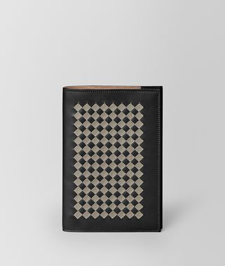 MEDIUM NOTEBOOK COVER IN INTRECCIATO CHECKER