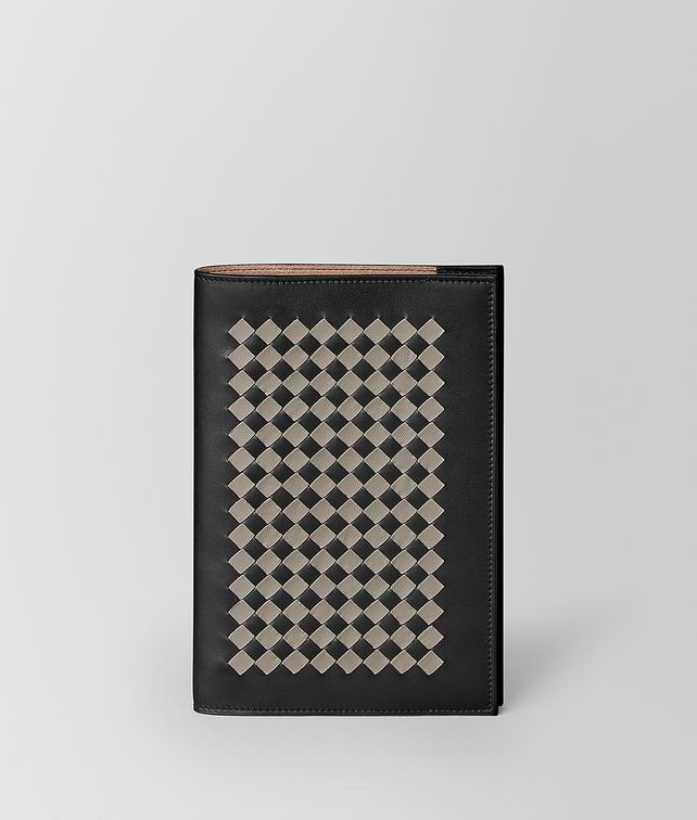 BOTTEGA VENETA MEDIUM NOTEBOOK COVER IN INTRECCIATO CHEQUER NOTEBOOK E fp