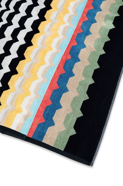 MISSONI HOME WOLF TOWEL Black E - Front