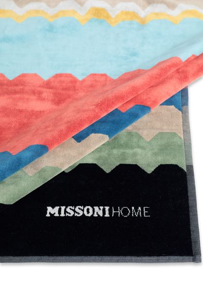 MISSONI HOME WOLF BEACH TOWEL Black E - Front