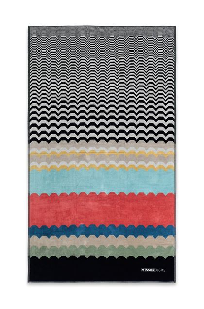 MISSONI HOME WOLF BEACH TOWEL Black E - Back