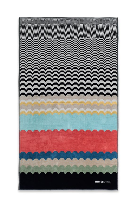 MISSONI HOME WOLF BEACH TOWEL E, Frontal view