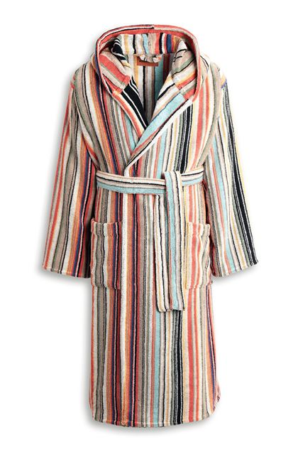 MISSONI HOME WARREN HOODED BATHROBE Rust E - Back