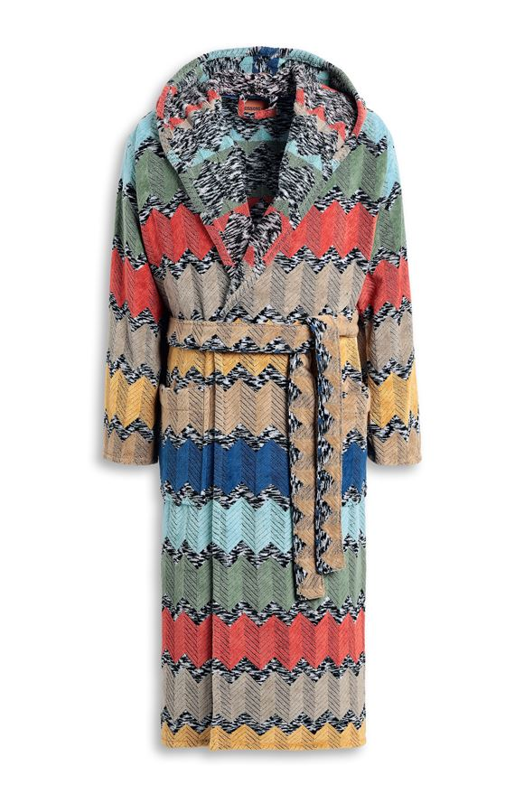 MISSONI HOME WILFRED  HOODED BATHROBE Rust E
