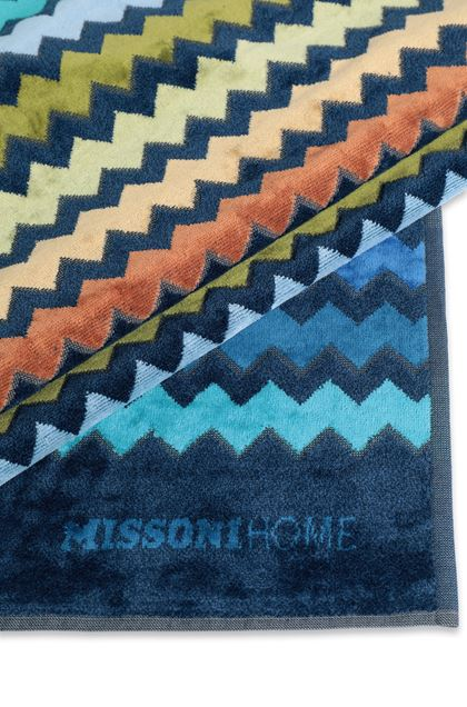 MISSONI HOME WARNER  ПЛЯЖНОЕ ПОЛОТЕНЦЕ Тёмно-синий E - Передняя сторона