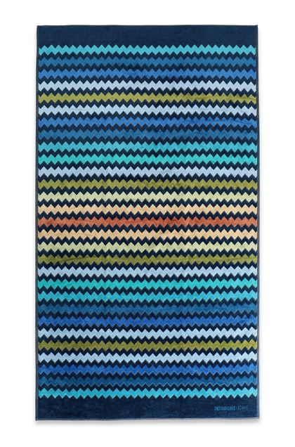MISSONI HOME WARNER  TELO MARE Blu scuro E - Retro