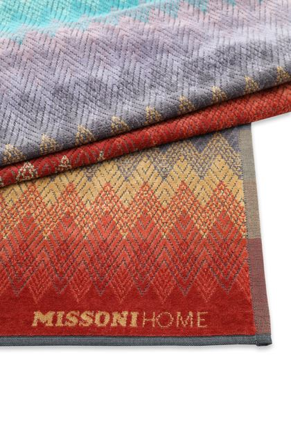 MISSONI HOME YACO BEACH TOWEL Maroon E - Front