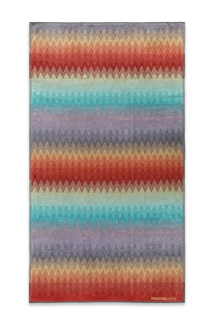 MISSONI HOME YACO BEACH TOWEL Maroon E - Back