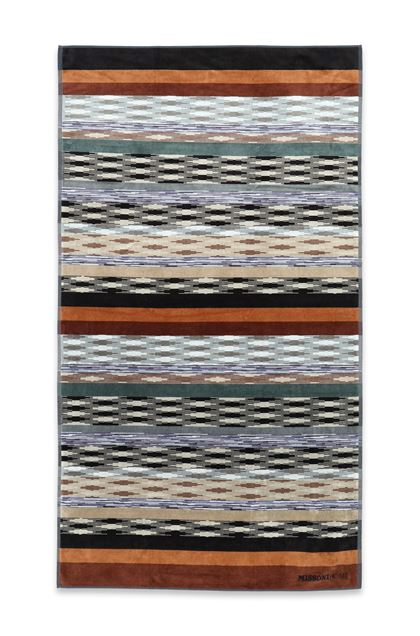 MISSONI HOME YWAN BEACH TOWEL Black E - Back