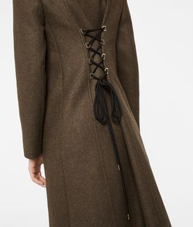 KARL LAGERFELD MASCULINE COAT W/ LACING