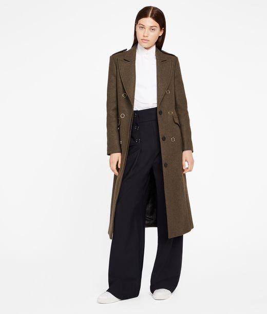 KARL LAGERFELD Masculine Coat W/ Lacing 12_f