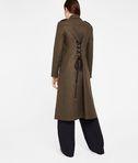 KARL LAGERFELD Masculine Coat W/ Lacing 8_d