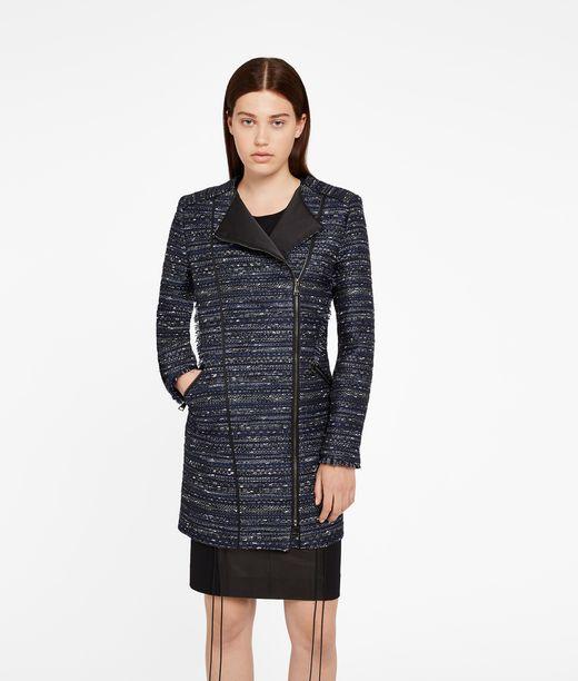 KARL LAGERFELD Fringed Bouclé Coat 12_f