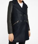 KARL LAGERFELD Ikonik Peacoat with Leather 8_e