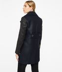 KARL LAGERFELD Ikonik Peacoat with Leather 8_r