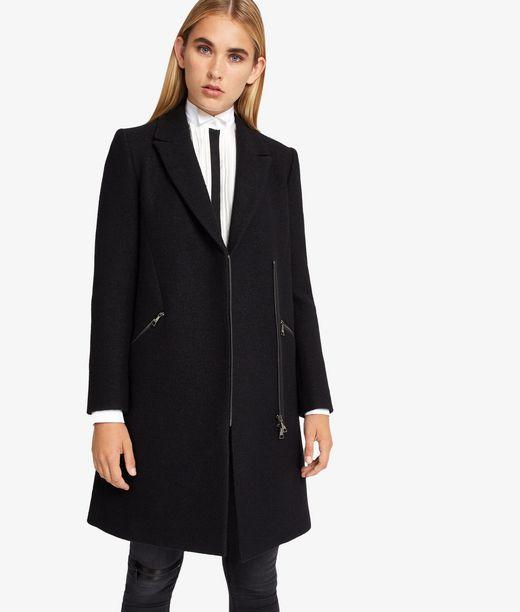 KARL LAGERFELD Masculine Coat W/ Metal Zips  12_f