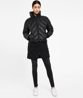 KARL LAGERFELD BOUCLÉ QUILTED DOWN COAT