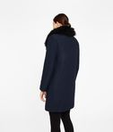 KARL LAGERFELD Wool Coat W/ Shearling Collar 8_d