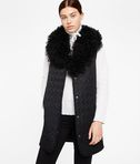 KARL LAGERFELD Wool Coat W/ Shearling Collar 8_e