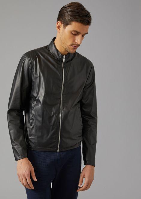 36b4d21b257 Biker jacket in matt nappa leather