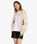 Satin & Mesh Bomber Jacket