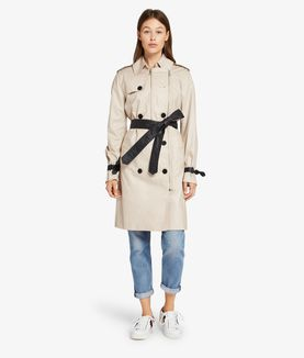 KARL LAGERFELD IKONIK TRENCH COAT WITH MESH