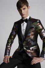 DSQUARED2 Silk Wool Camouflage Lamé London Blazer JACKET/BLAZER Man
