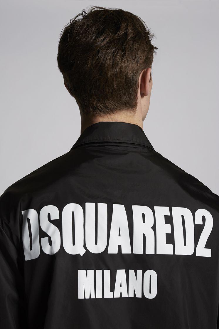 32858ff1b2 Dsquared2 Nylon Coach Jacket With Dsquared2 Logo Multicoloured ...