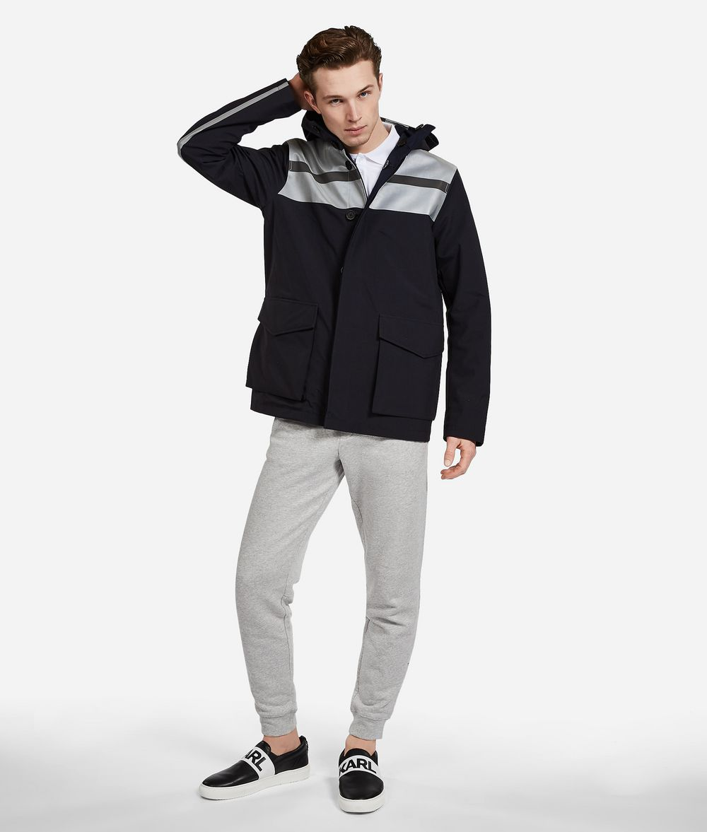 KARL LAGERFELD Reversible Jacket with Reflective Stripes Outerwear Man d
