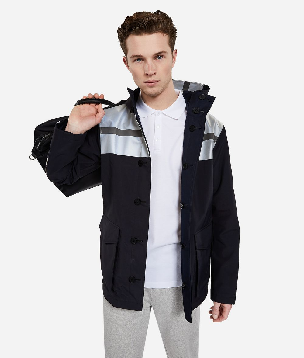 KARL LAGERFELD Reversible Jacket with Reflective Stripes Outerwear Man f