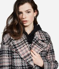 KARL LAGERFELD Wool Blend Plaid Coat 9_f