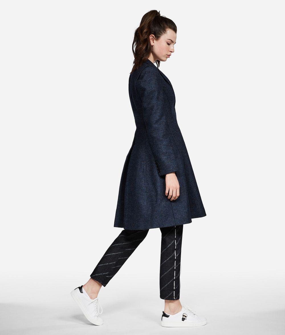 KARL LAGERFELD Mélange Wool Coat Jacket Woman d