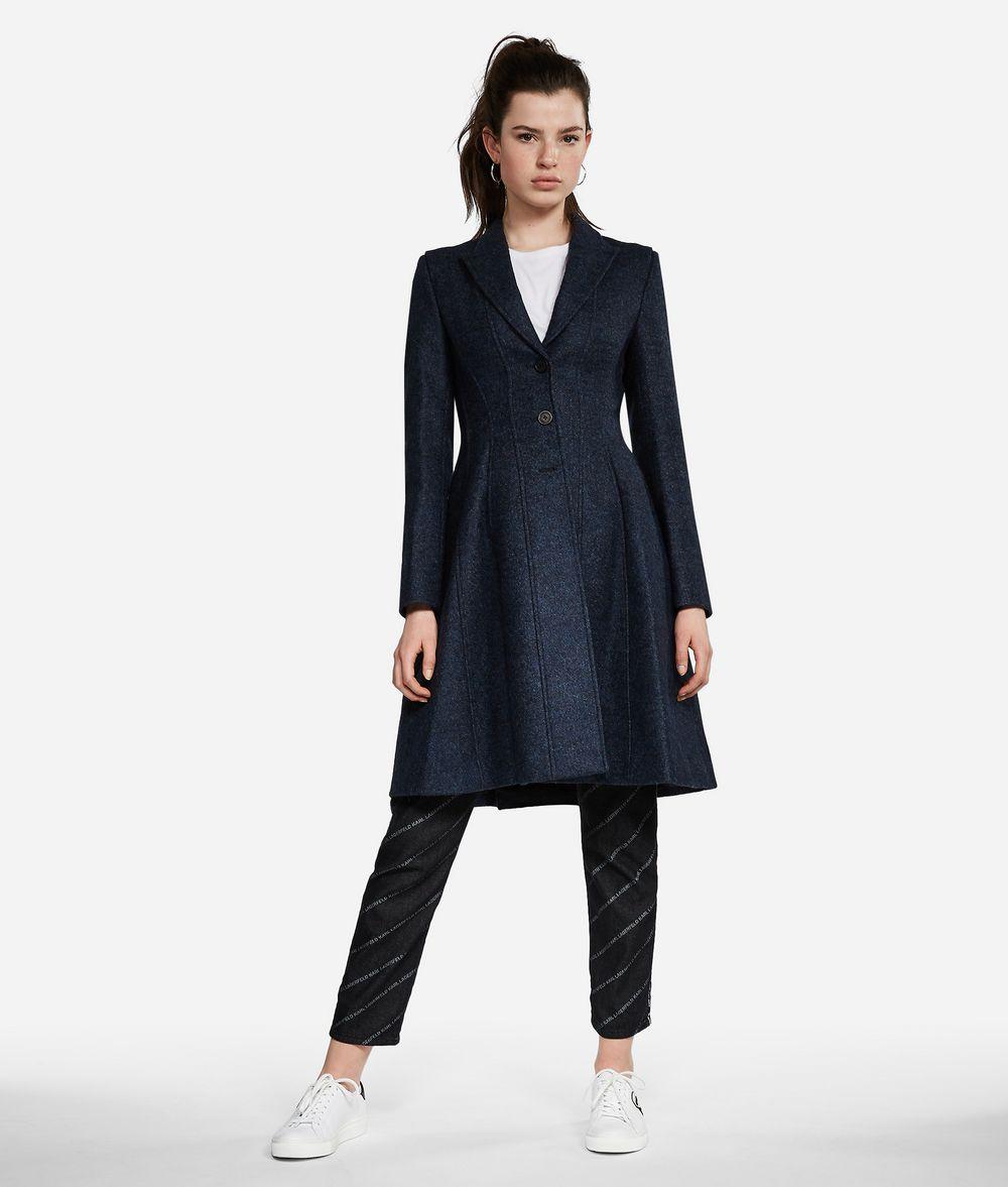 KARL LAGERFELD Mélange Wool Coat Jacket Woman f