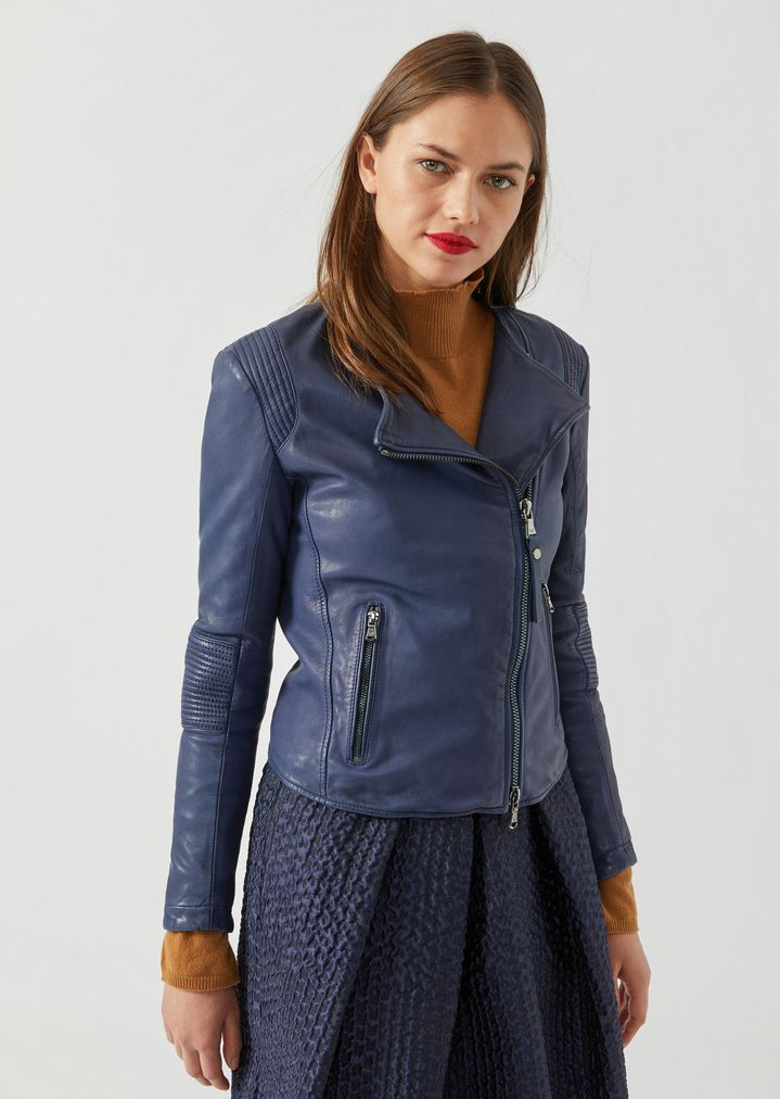 8c5f8a718c0 Biker jacket in lined leather