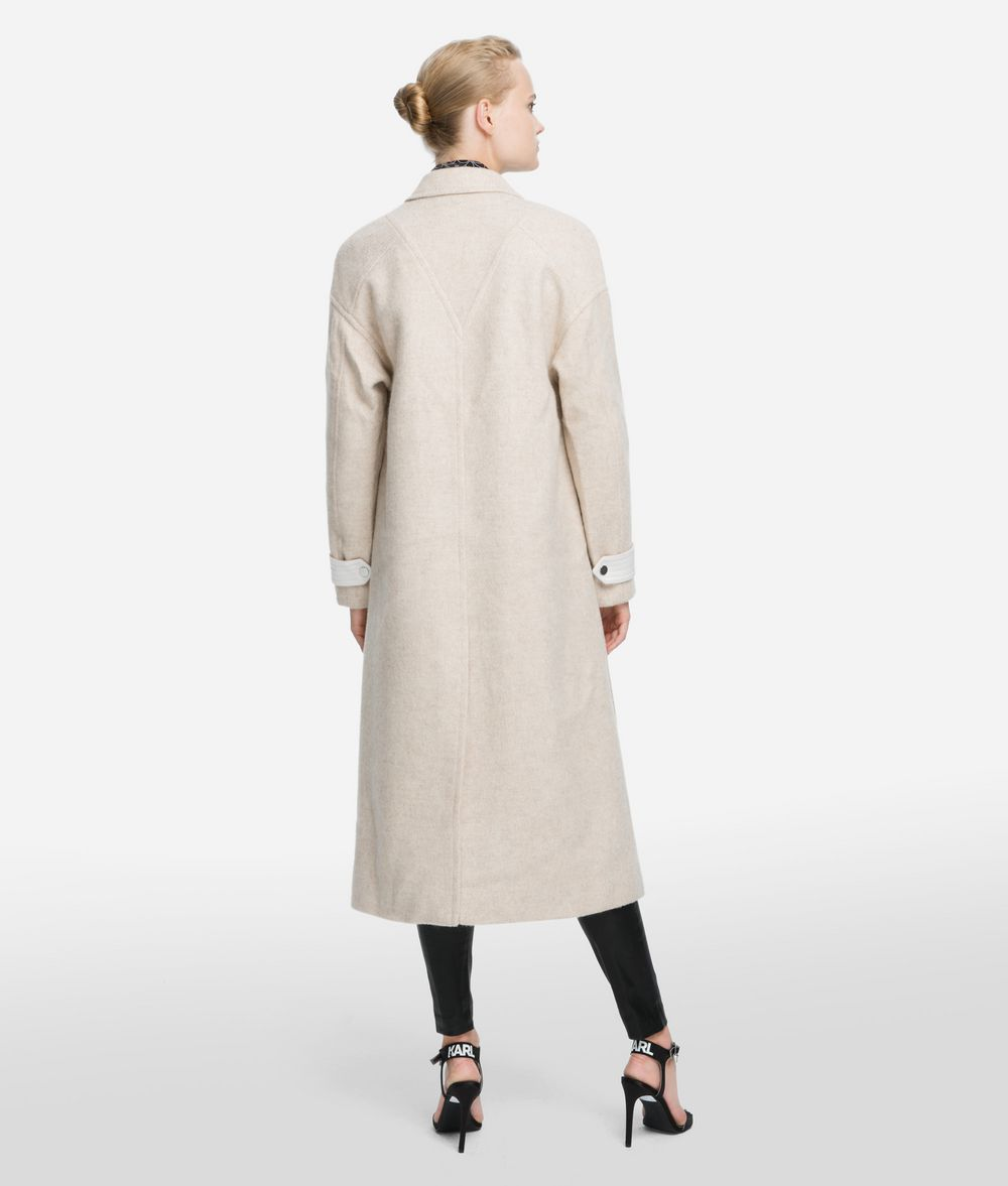 KARL LAGERFELD Textured Wool Blend Coat Coat Woman d