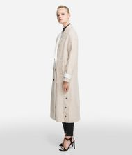 KARL LAGERFELD Textured Wool Blend Coat 9_f