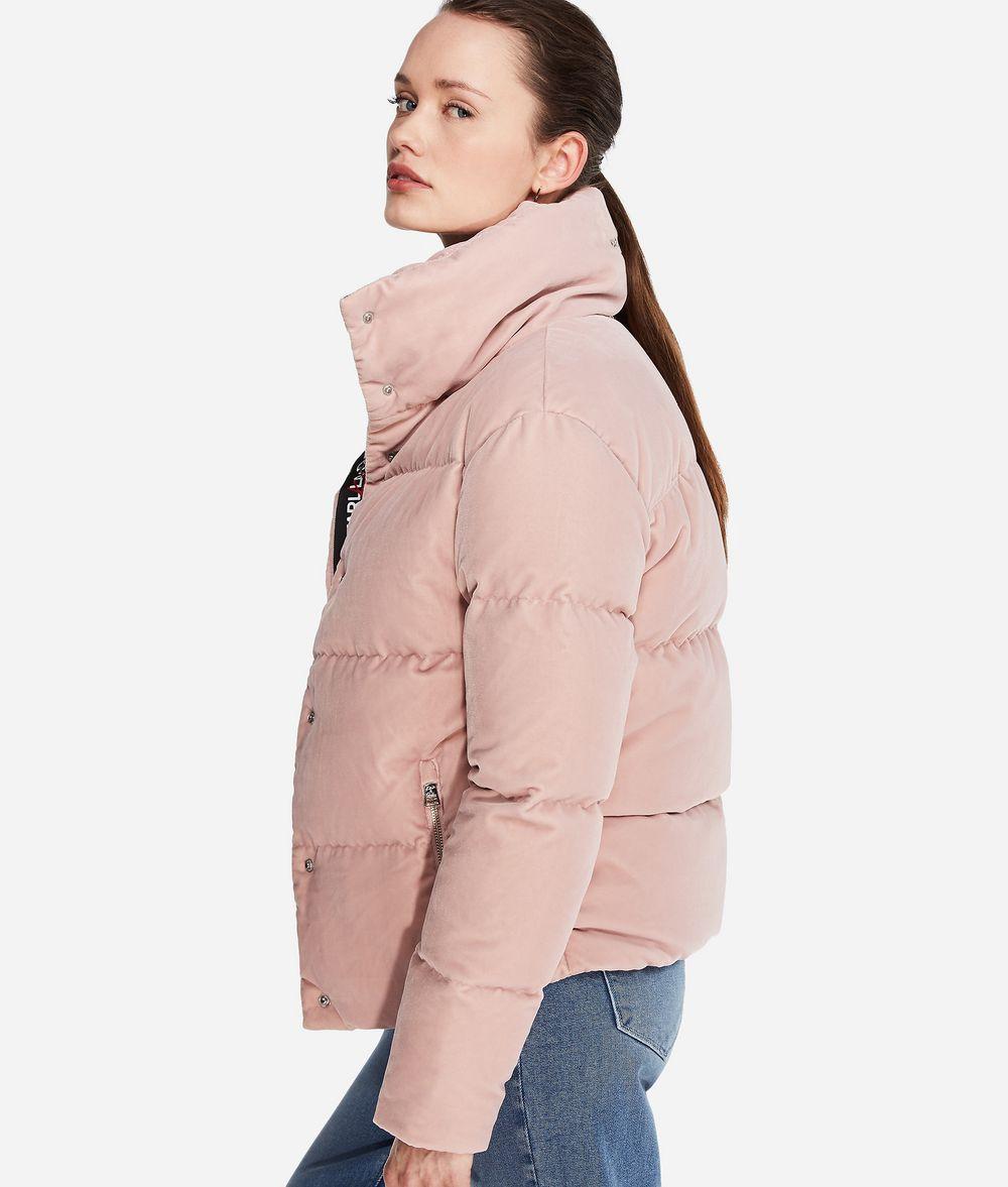 KARL LAGERFELD Karl X Kaia Velvet Down Jacket Outerwear Woman d