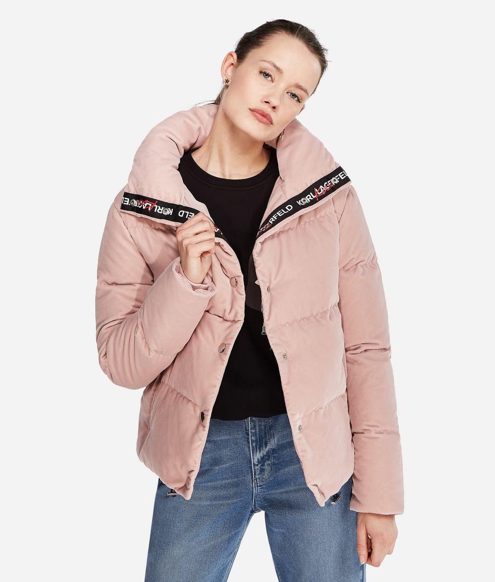 KARL LAGERFELD Karl X Kaia Velvet Down Jacket Outerwear Woman f