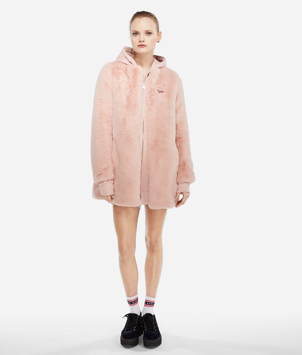 KARL LAGERFELD Karl X Kaia Faux Fur Coat Coat Woman d