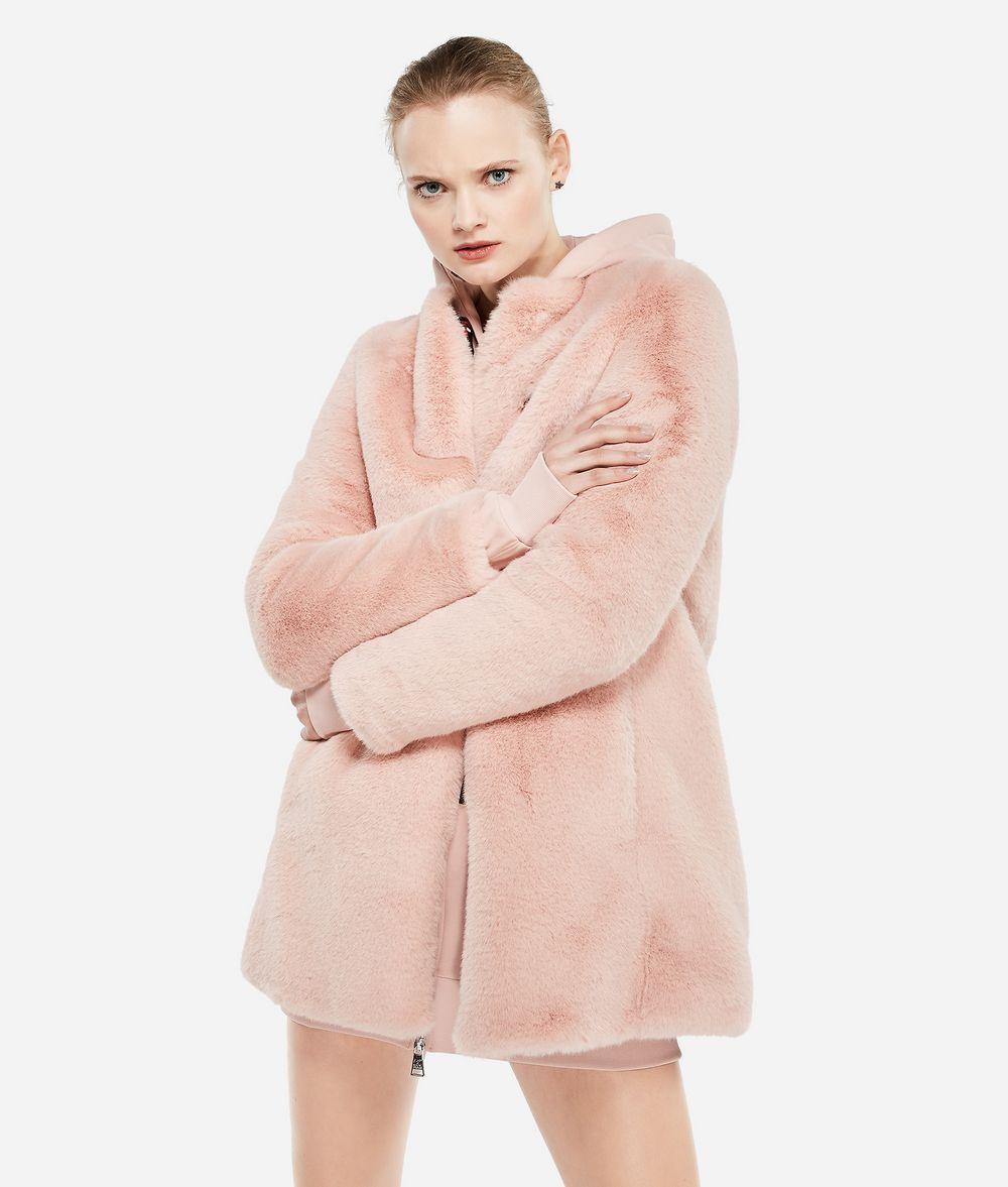 KARL LAGERFELD Karl X Kaia Faux Fur Coat Coat Woman f