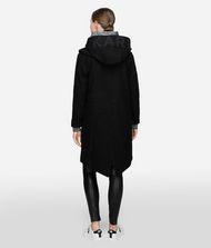 KARL LAGERFELD Wool Blend Hooded Parka Coat 9_f