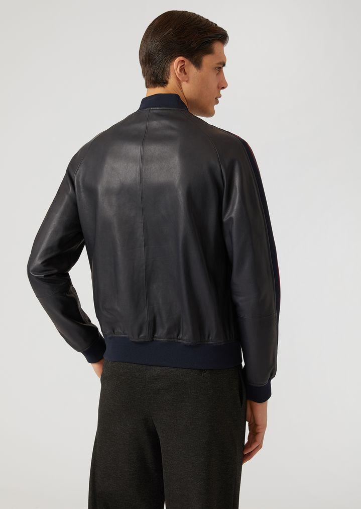 Кожаная куртка   Мужской   Emporio Armani e49d3d92074