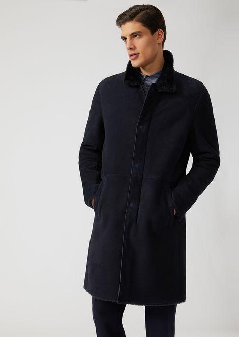 Suede lambskin coat
