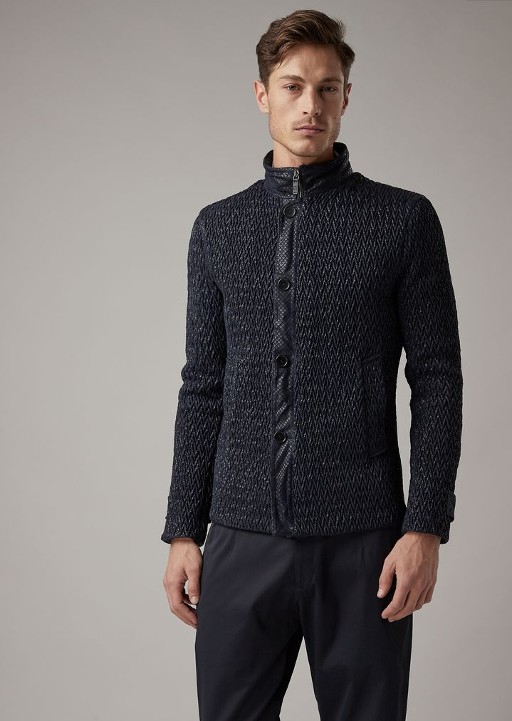 Leather Jacket   Man   Giorgio Armani 7e314033f51