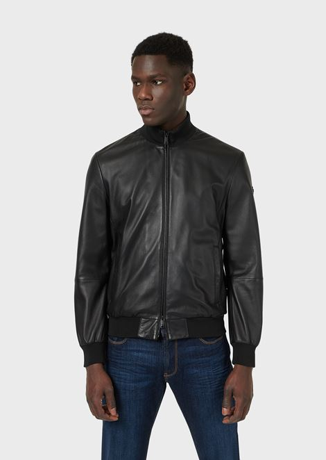 Lambskin nappa leather bomber jacket with a soft feel