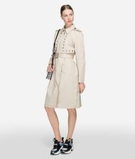 KARL LAGERFELD Eyelet Trench Coat Woman a