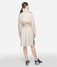 KARL LAGERFELD Eyelet Trench Coat Woman d