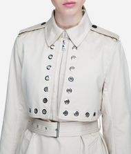 KARL LAGERFELD Eyelet Trench Coat Woman r