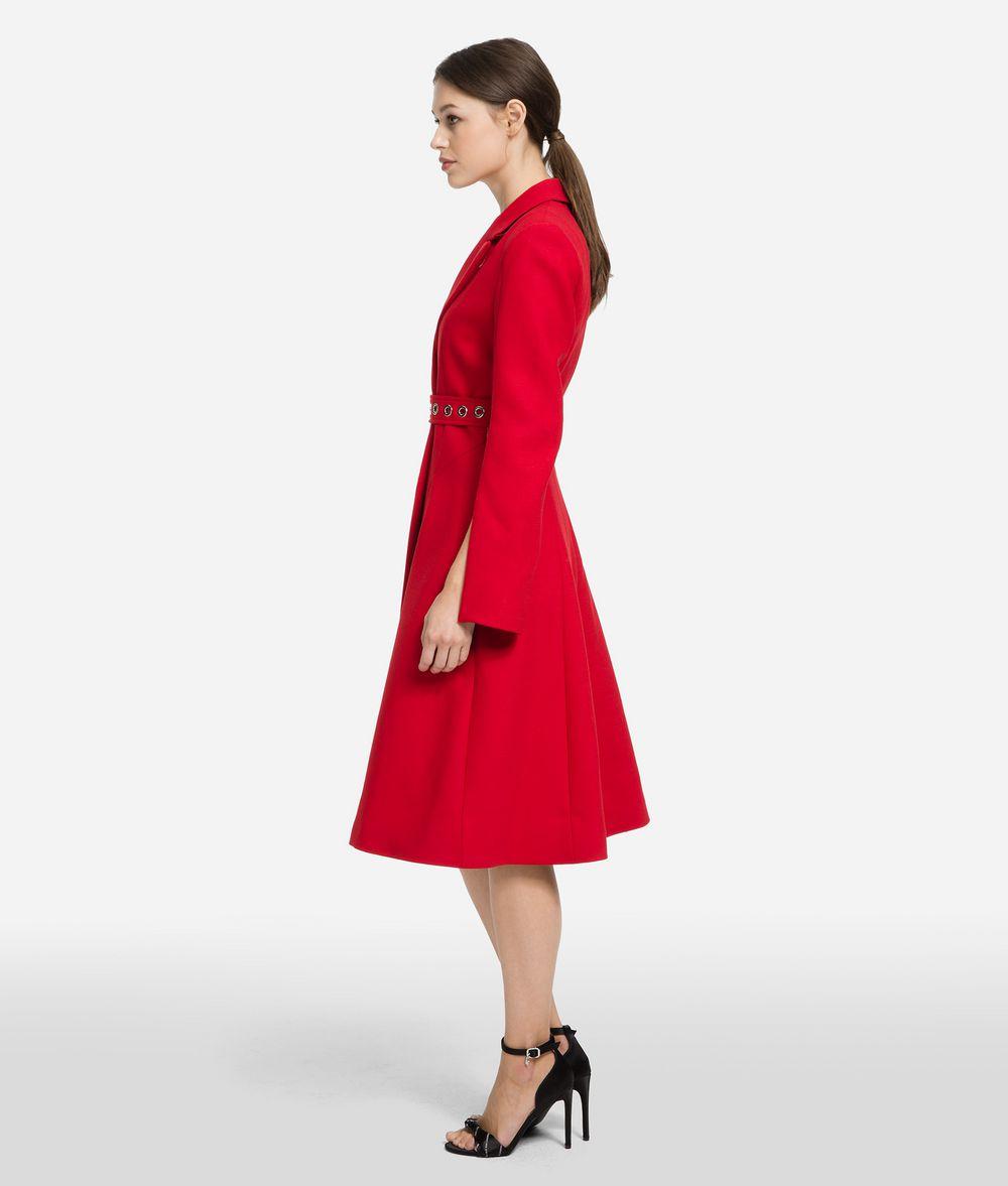 KARL LAGERFELD Tailored Wool Coat Coat Woman d