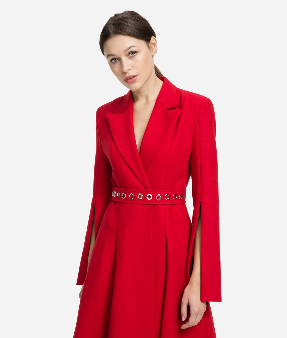 KARL LAGERFELD Tailored Wool Coat Coat Woman f